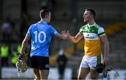 12 December 2020; Darach McBride of Dublin and Conor Butler of Offaly shake hands following the Bord Gais Energy Leinster Under 20 Hurling Championship Quarter-Final match between Offaly and Dublin at St Brendan's Park in Birr, Offaly. Photo by Sam Barnes/Sportsfile