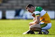 12 December 2020; Conor Butler of Offaly dejected following his side's defeat in the Bord Gais Energy Leinster Under 20 Hurling Championship Quarter-Final match between Offaly and Dublin at St Brendan's Park in Birr, Offaly. Photo by Sam Barnes/Sportsfile