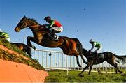12 December 2020; Halsafari, with Brian Hayes up, jumps the sixth during the Boylesports This Is Betting Handicap Steeplechase at Fairyhouse Racecourse in Ratoath, Meath. Photo by Seb Daly/Sportsfile