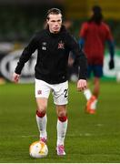10 December 2020; Daniel Cleary of Dundalk ahead of the UEFA Europa League Group B match between Dundalk and Arsenal at the Aviva Stadium in Dublin. Photo by Ben McShane/Sportsfile