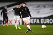 10 December 2020; Sean Gannon of Dundalk ahead of the UEFA Europa League Group B match between Dundalk and Arsenal at the Aviva Stadium in Dublin. Photo by Ben McShane/Sportsfile