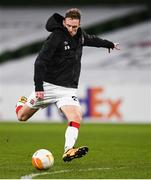10 December 2020; David McMillan of Dundalk ahead of the UEFA Europa League Group B match between Dundalk and Arsenal at the Aviva Stadium in Dublin. Photo by Ben McShane/Sportsfile