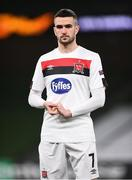 10 December 2020; Michael Duffy of Dundalk ahead of the UEFA Europa League Group B match between Dundalk and Arsenal at the Aviva Stadium in Dublin. Photo by Ben McShane/Sportsfile