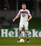 10 December 2020; Sean Hoare of Dundalk during the UEFA Europa League Group B match between Dundalk and Arsenal at the Aviva Stadium in Dublin. Photo by Ben McShane/Sportsfile