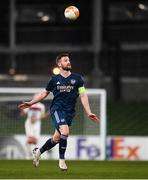 10 December 2020; Shkodran Mustafi of Arsenal during the UEFA Europa League Group B match between Dundalk and Arsenal at the Aviva Stadium in Dublin. Photo by Ben McShane/Sportsfile