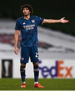 10 December 2020; Mohamed Elneny of Arsenal reacts during the UEFA Europa League Group B match between Dundalk and Arsenal at the Aviva Stadium in Dublin. Photo by Ben McShane/Sportsfile