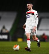 10 December 2020; Michael Duffy of Dundalk during the UEFA Europa League Group B match between Dundalk and Arsenal at the Aviva Stadium in Dublin. Photo by Ben McShane/Sportsfile