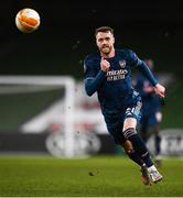 10 December 2020; Calum Chambers of Arsenal during the UEFA Europa League Group B match between Dundalk and Arsenal at the Aviva Stadium in Dublin. Photo by Ben McShane/Sportsfile