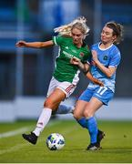 12 December 2020; Zara Foley of Cork City in action against Dearbhaile Beirne of Peamount United during the FAI Women's Senior Cup Final match between Cork City and Peamount United at Tallaght Stadium in Dublin. Photo by Eóin Noonan/Sportsfile