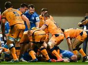 12 December 2020; Dan Leavy of Leinster scores his side's fourth try during the Heineken Champions Cup Pool A Round 1 match between Montpellier and Leinster at the GGL Stadium in Montpellier, France. Photo by Harry Murphy/Sportsfile