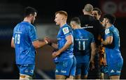 12 December 2020; James Ryan, left, and Ciarán Frawley of Leinster following the Heineken Champions Cup Pool A Round 1 match between Montpellier and Leinster at the GGL Stadium in Montpellier, France. Photo by Harry Murphy/Sportsfile
