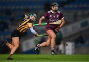 12 December 2020; Niamh Kilkenny of Galway gets past Michelle Teehan of Kilkenny during the Liberty Insurance All-Ireland Senior Camogie Championship Final match between Galway and Kilkenny at Croke Park in Dublin. Photo by Piaras Ó Mídheach/Sportsfile