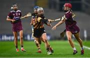 12 December 2020; Orlaith McGrath of Galway in action against Davina Tobin of Kilkenny during the Liberty Insurance All-Ireland Senior Camogie Championship Final match between Galway and Kilkenny at Croke Park in Dublin. Photo by David Fitzgerald/Sportsfile