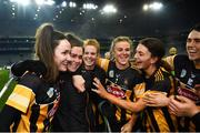 12 December 2020; An emotional injured Kilkenny player Katie Power, centre, celebrates with team-mates following the Liberty Insurance All-Ireland Senior Camogie Championship Final match between Galway and Kilkenny at Croke Park in Dublin. Photo by David Fitzgerald/Sportsfile