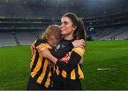 12 December 2020; Kilkenny players Collette Dormer, left, and Davina Tobin celebrate after the Liberty Insurance All-Ireland Senior Camogie Championship Final match between Galway and Kilkenny at Croke Park in Dublin. Photo by Piaras Ó Mídheach/Sportsfile