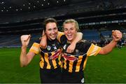 12 December 2020; Kilkenny players Denise Gaule, left, and Grace Walsh celebrate after the Liberty Insurance All-Ireland Senior Camogie Championship Final match between Galway and Kilkenny at Croke Park in Dublin. Photo by Piaras Ó Mídheach/Sportsfile