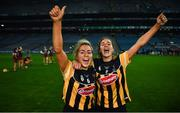 12 December 2020; Meighan Farrell, left, and Anna Farrell of Kilkenny celebtrate following the Liberty Insurance All-Ireland Senior Camogie Championship Final match between Galway and Kilkenny at Croke Park in Dublin. Photo by David Fitzgerald/Sportsfile
