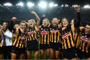 12 December 2020; Kilkenny players celebrate following the Liberty Insurance All-Ireland Senior Camogie Championship Final match between Galway and Kilkenny at Croke Park in Dublin. Photo by David Fitzgerald/Sportsfile