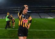 12 December 2020; Davina Tobin of Kilkenny reacts after the final whistle after winning the Liberty Insurance All-Ireland Senior Camogie Championship Final match between Galway and Kilkenny at Croke Park in Dublin. Photo by Piaras Ó Mídheach/Sportsfile