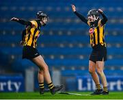 12 December 2020; Claire Phelan, right, and Aoife Norris of Kilkenny celebrate at the final whistle following the Liberty Insurance All-Ireland Senior Camogie Championship Final match between Galway and Kilkenny at Croke Park in Dublin. Photo by David Fitzgerald/Sportsfile