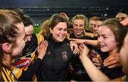 12 December 2020; Katie Power, centre, celebrates with her Kilkenny team-mates following the Liberty Insurance All-Ireland Senior Camogie Championship Final match between Galway and Kilkenny at Croke Park in Dublin. Photo by David Fitzgerald/Sportsfile