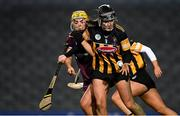 12 December 2020; Claire Phelan of Kilkenny in action against Róisín Black of Galway during the Liberty Insurance All-Ireland Senior Camogie Championship Final match between Galway and Kilkenny at Croke Park in Dublin. Photo by Piaras Ó Mídheach/Sportsfile