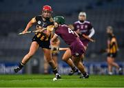 12 December 2020; Grace Walsh of Kilkenny in action against Heather Cooney of Galway during the Liberty Insurance All-Ireland Senior Camogie Championship Final match between Galway and Kilkenny at Croke Park in Dublin. Photo by Piaras Ó Mídheach/Sportsfile