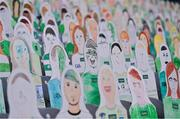 13 December 2020; Supporters, drawn and coloured by school children from Limerick, are seen in the Cusack stand prior to the GAA Hurling All-Ireland Senior Championship Final match between Limerick and Waterford at Croke Park in Dublin. Photo by Brendan Moran/Sportsfile