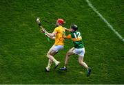 13 December 2020; James McNaughton of Antrim in action against Shane Conway of Kerry during the Joe McDonagh Cup Final match between Kerry and Antrim at Croke Park in Dublin. Photo by Daire Brennan/Sportsfile
