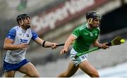 13 December 2020; Gearóid Hegarty of Limerick in action against Kevin Moran of Waterford during the GAA Hurling All-Ireland Senior Championship Final match between Limerick and Waterford at Croke Park in Dublin. Photo by Ramsey Cardy/Sportsfile