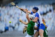 13 December 2020; Aaron Gillane of Limerick in action against Conor Prunty of Waterford during the GAA Hurling All-Ireland Senior Championship Final match between Limerick and Waterford at Croke Park in Dublin. Photo by Ramsey Cardy/Sportsfile