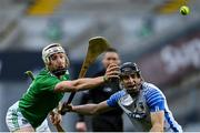 13 December 2020; Cian Lynch of Limerick in action against Jamie Barron of Waterford during the GAA Hurling All-Ireland Senior Championship Final match between Limerick and Waterford at Croke Park in Dublin. Photo by Ramsey Cardy/Sportsfile