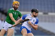 13 December 2020; Iarlaith Daly of Waterford in action against Barry Nash of Limerick during the GAA Hurling All-Ireland Senior Championship Final match between Limerick and Waterford at Croke Park in Dublin. Photo by Brendan Moran/Sportsfile