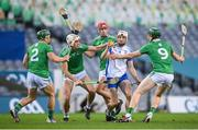 13 December 2020; Jack Fagan of Waterford in action against Limerick players, from left, Seán Finn, Barry Nash, Kyle Hayes and William O'Donoghue during the GAA Hurling All-Ireland Senior Championship Final match between Limerick and Waterford at Croke Park in Dublin. Photo by Stephen McCarthy/Sportsfile