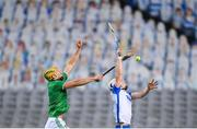 13 December 2020; Dessie Hutchinson of Waterford in action against Dan Morrissey of Limerick during the GAA Hurling All-Ireland Senior Championship Final match between Limerick and Waterford at Croke Park in Dublin. Photo by Stephen McCarthy/Sportsfile
