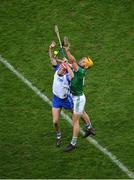 13 December 2020; Calum Lyons of Waterford in action against Tom Morrissey of Limerick during the GAA Hurling All-Ireland Senior Championship Final match between Limerick and Waterford at Croke Park in Dublin. Photo by Daire Brennan/Sportsfile