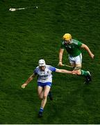 13 December 2020; Ian Kenny of Waterford in action against Séamus Flanagan of Limerick during the GAA Hurling All-Ireland Senior Championship Final match between Limerick and Waterford at Croke Park in Dublin. Photo by David Fitzgerald/Sportsfile