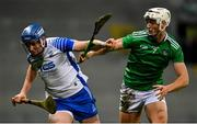 13 December 2020; Austin Gleeson of Waterford in action against Kyle Hayes of Limerick during the GAA Hurling All-Ireland Senior Championship Final match between Limerick and Waterford at Croke Park in Dublin. Photo by Ramsey Cardy/Sportsfile