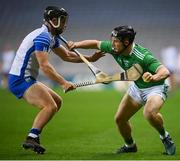 13 December 2020; Peter Casey of Limerick in action against Ian Kenny of Waterford during the GAA Hurling All-Ireland Senior Championship Final match between Limerick and Waterford at Croke Park in Dublin. Photo by Stephen McCarthy/Sportsfile