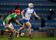 13 December 2020; Dessie Hutchinson of Waterford in action against Barry Nash of Limerick during the GAA Hurling All-Ireland Senior Championship Final match between Limerick and Waterford at Croke Park in Dublin. Photo by Piaras Ó Mídheach/Sportsfile