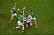 13 December 2020; Dessie Hutchinson of Waterford in action against Limerick players, left to right, Seán Finn, Declan Hannon, Barry Nash, and Darragh O'Donovan during the GAA Hurling All-Ireland Senior Championship Final match between Limerick and Waterford at Croke Park in Dublin. Photo by Daire Brennan/Sportsfile