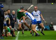 13 December 2020; Darragh O'Donovan of Limerick in action against Jack Fagan of Waterford during the GAA Hurling All-Ireland Senior Championship Final match between Limerick and Waterford at Croke Park in Dublin. Photo by Ramsey Cardy/Sportsfile