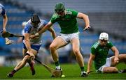 13 December 2020; William O'Donoghue of Limerick in action against Jamie Barron of Waterford during the GAA Hurling All-Ireland Senior Championship Final match between Limerick and Waterford at Croke Park in Dublin. Photo by Piaras Ó Mídheach/Sportsfile