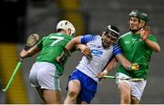 13 December 2020; Patrick Curran of Waterford in action against Kyle Hayes, left, and William O'Donoghue of Limerick during the GAA Hurling All-Ireland Senior Championship Final match between Limerick and Waterford at Croke Park in Dublin. Photo by Ramsey Cardy/Sportsfile
