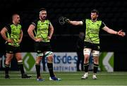 13 December 2020; Connacht players, from right, Eoghan Masterson, Paul Boyle and Jordan Duggan react following the Heineken Champions Cup Pool B Round 1 match between Racing 92 and Connacht at La Defense Arena in Paris, France. Photo by Harry Murphy/Sportsfile