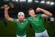 13 December 2020; Pat Ryan, left, and William O'Donoghue of Limerick following the GAA Hurling All-Ireland Senior Championship Final match between Limerick and Waterford at Croke Park in Dublin. Photo by Stephen McCarthy/Sportsfile