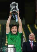 13 December 2020; Kyle Hayes of Limerick lifts the Liam MacCarthy Cup following the GAA Hurling All-Ireland Senior Championship Final match between Limerick and Waterford at Croke Park in Dublin. Photo by Stephen McCarthy/Sportsfile