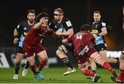 13 December 2020; James Chisholm of Harlequins is tackled by Kevin O'Byrne, left and Jean Kleyn of Munster during the Heineken Champions Cup Pool B Round 1 match between Munster and Harlequins at Thomond Park in Limerick. Photo by Sam Barnes/Sportsfile