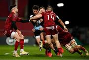 13 December 2020; Cadan Murley of Harlequins is tackled by, from left, Conor Murray, Andrew Conway and Gavin Coombes of Munster during the Heineken Champions Cup Pool B Round 1 match between Munster and Harlequins at Thomond Park in Limerick. Photo by Sam Barnes/Sportsfile