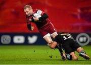 13 December 2020; Keith Earls of Munster is tackled by Ben Tapuai of Harlequins during the Heineken Champions Cup Pool B Round 1 match between Munster and Harlequins at Thomond Park in Limerick. Photo by Seb Daly/Sportsfile